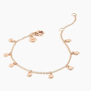14k Gold Plated Dot Charm Rose Gold Modern Simple